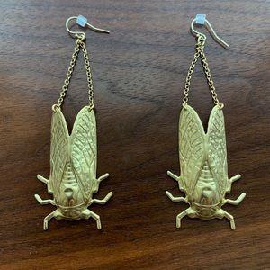 Gorgeous golden beetles earrings! Anthropologie